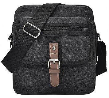 e22d64ce869 Men Small Vintage Canvas Messenger Bag by Supa Moden, Cross Body Bag Pack  Organizer Satchel