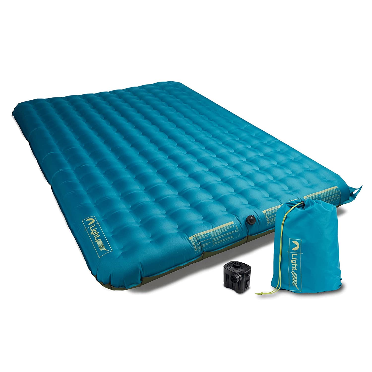 Lightspeed Outdoors 2 Person PVC-Free Air Bed Mattress for Camping and Travel 27793-FK