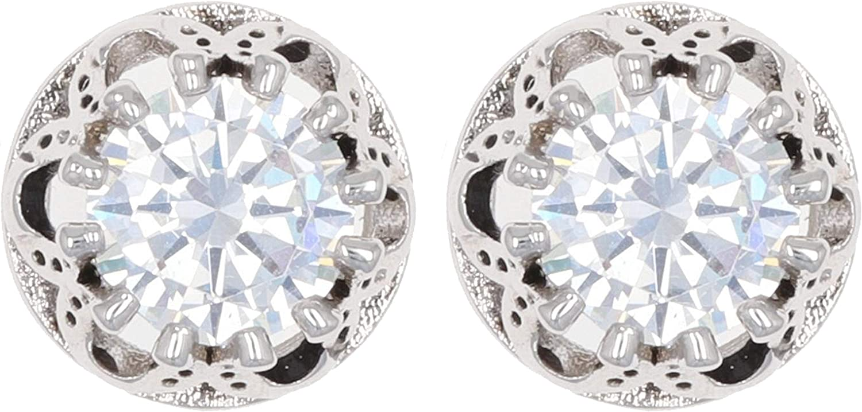 Montana Silversmiths Lucky Water Horseshoe Post Earrings Pair - Cubic Zirconia Stones, Stud Earrings