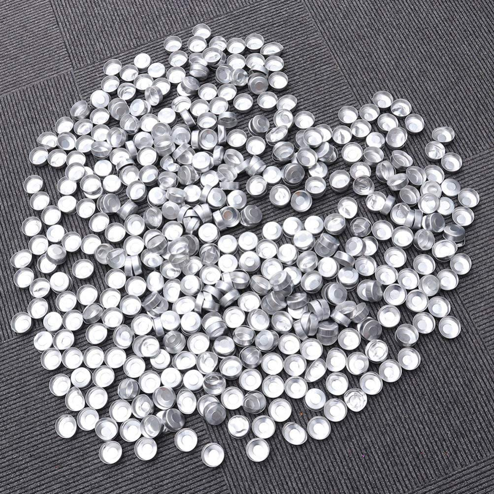 Healifty 200pcs Aluminum Tealight Tins Tea Light Empty Case Containers Candle Wax Containers Tins DIY Candles Making Supplies Silver