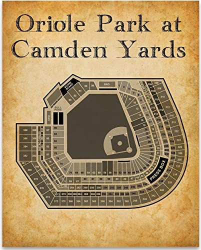 Amazon com oriole park at camden yards baseball seating chart