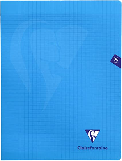 24 Sheets A4 Clairefontaine Mimesys Polypro Stapled Notebook S/éy/ès Red