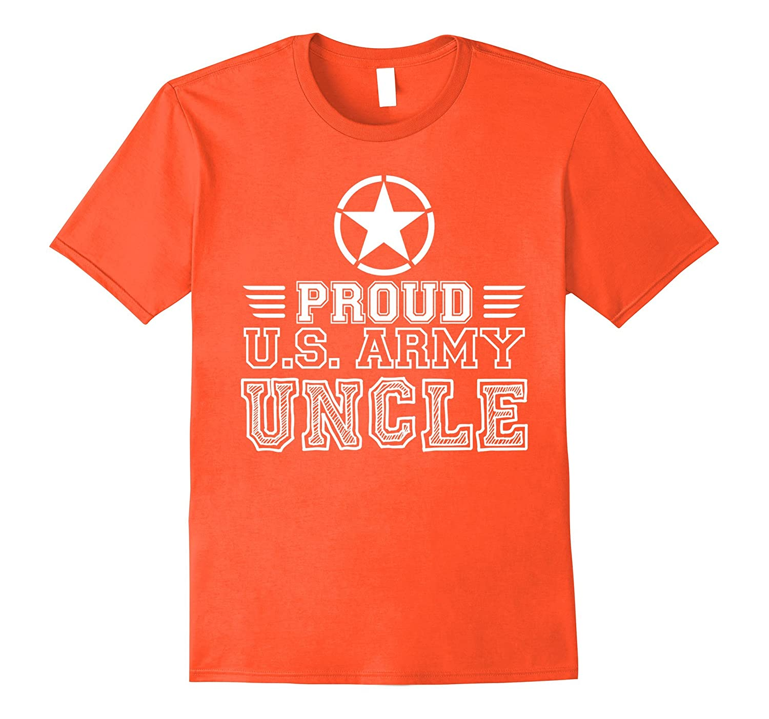 Mens Proud U.S. Army Uncle White C1 Funny T-shirt-Yolotee
