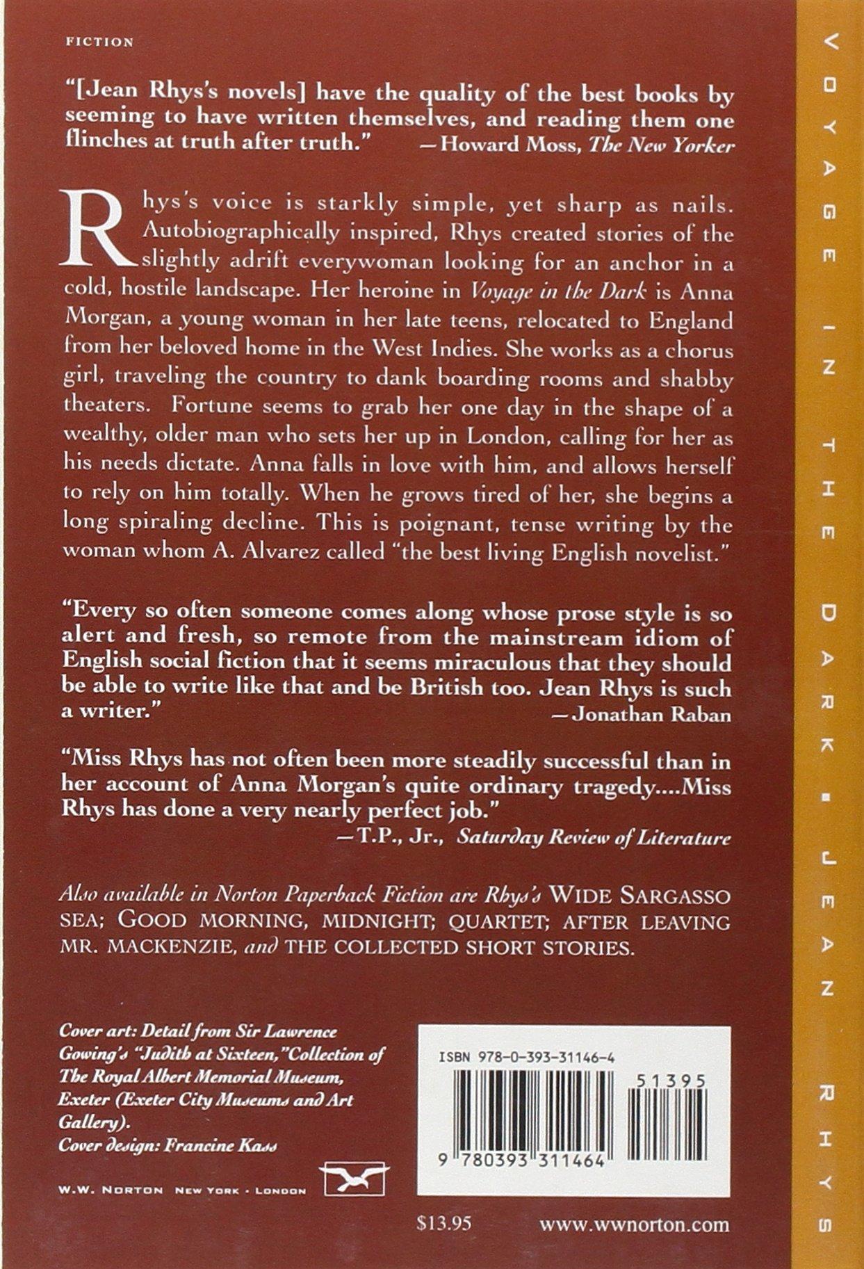voyage in the dark norton paperback fiction jean rhys voyage in the dark norton paperback fiction jean rhys 9780393311464 com books