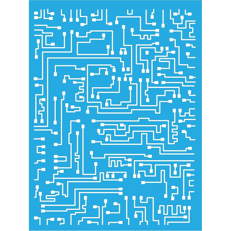 Americana Decor Short Circuit Stencil, Blue, 6 x 8-Inch DecoArt ASMM39-K