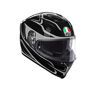 Casco integral AGV K-5 K5 S plk Magnitude negro gris Black Silver Helmet