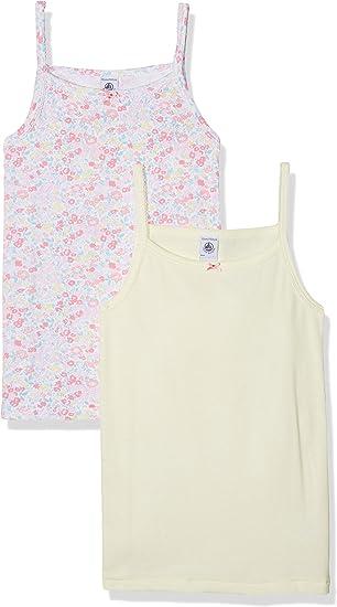 2erPack Petit Bateau M/ädchen Unterhemd