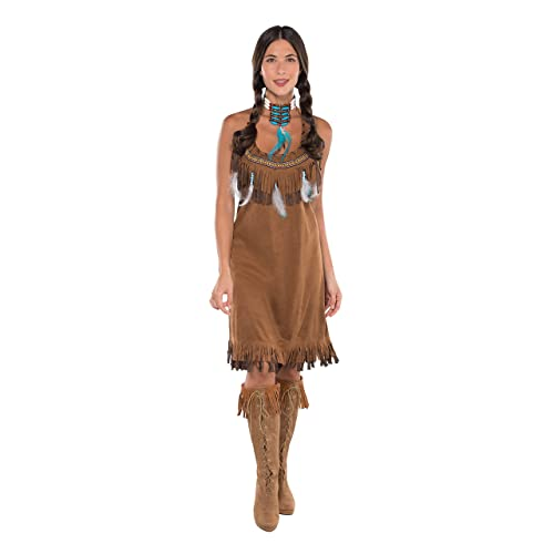 Adults Womens Native American Squaw Fancy Dress Costume