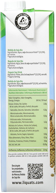 MONSOY Bebida de Soja Ecologica 1L [caja de 4 x 1L]: Amazon.es: Alimentación y bebidas