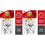 Command Wire Hooks, White, Indoor Use - 2 Pack