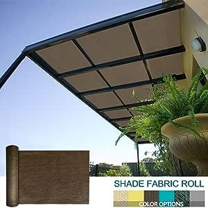 solgear 8 ft x 1 ft Shade Cloth Pergola Patio para proporcionar Shade rollo de tela de malla Protector de resistente permeable al proporcionar privacidad resistente a los rayos UV, color beige: