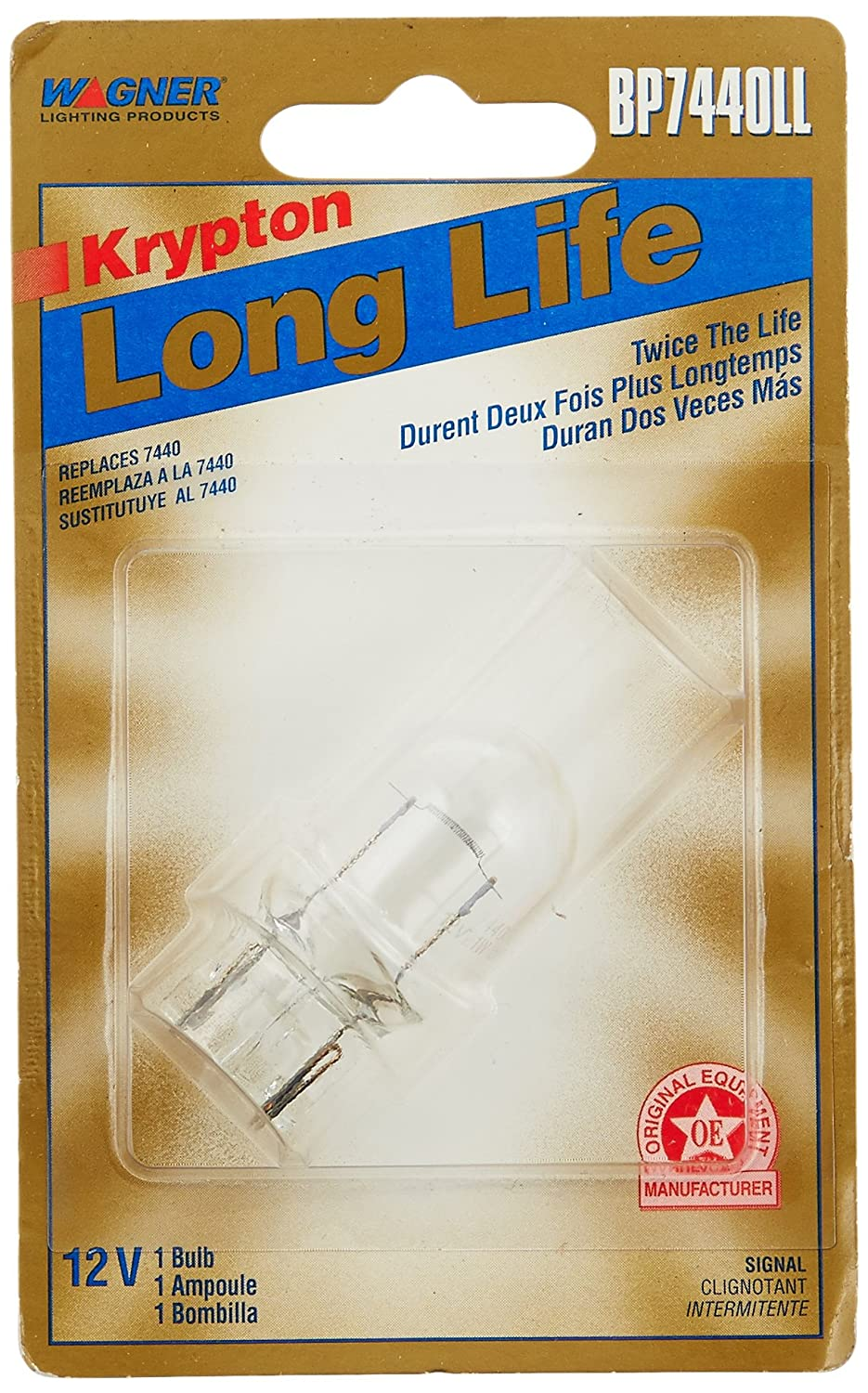 Amazon.com: Wagner Lighting BP7440LL Long Life Miniature Bulb - Card of 1: Automotive