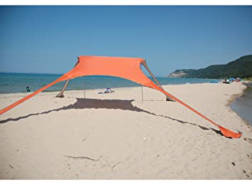 FUNS Portable Stakeless Windproof Beach Sunshade And Gazebo Tent   10u0027 X  10u0027
