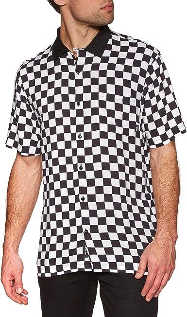 Vans Checkerboard Camp SS Camisa Manga Corta Hombre Blanco: Amazon.es: Ropa y accesorios