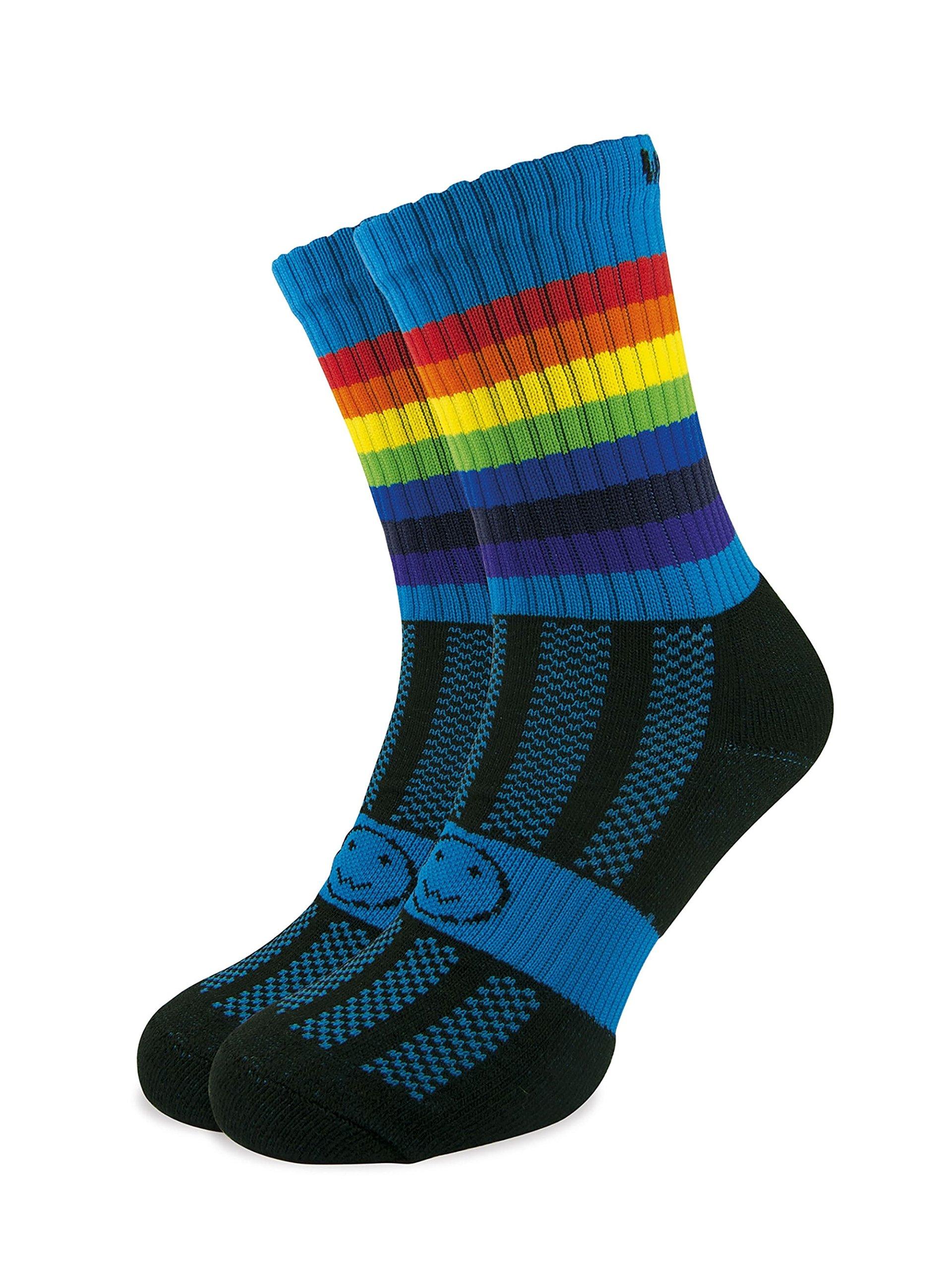WackySox Wackysox Three Pairs Supersaver Pink Rainbow Calf Sports Socks