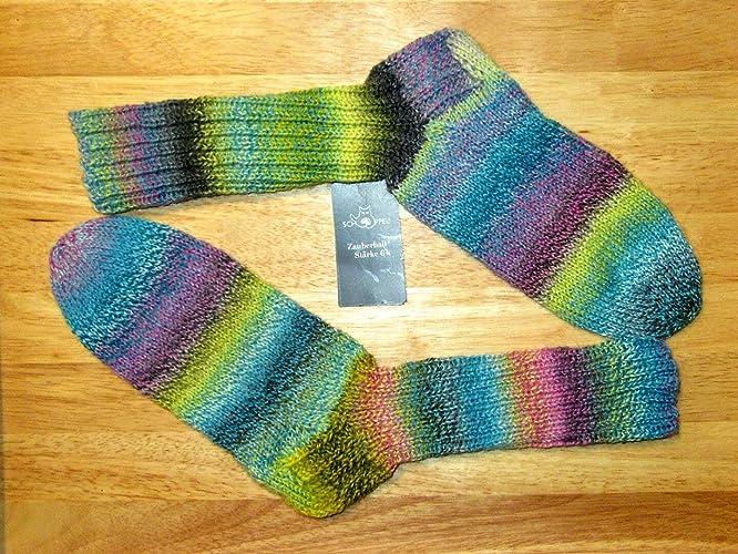 Tejido a mano/tejido a mano/calcetines/medias de lana/Schoppel -