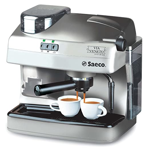 Saeco - Cafetera Espresso Ri934701, 2 Tazas, Silver
