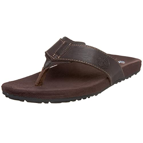 86bf17f7a66c Timberland Men s Dark Brown Leather Flip Flops Thong Sandals - 8.5 UK  Buy  Online at Low Prices in India - Amazon.in