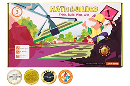 LogicRoots Math Builder Equation Building Board Game Stem Toy Math Manipulative