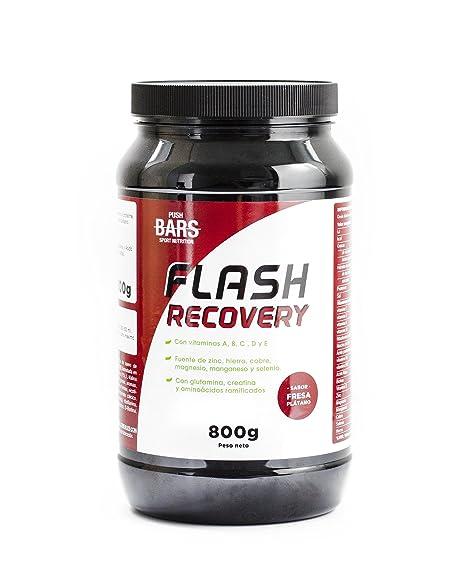 PUSH BARS FLASH RECOVERY Complemento alimenticio en polvo a base de hidratos de carbono y proteína