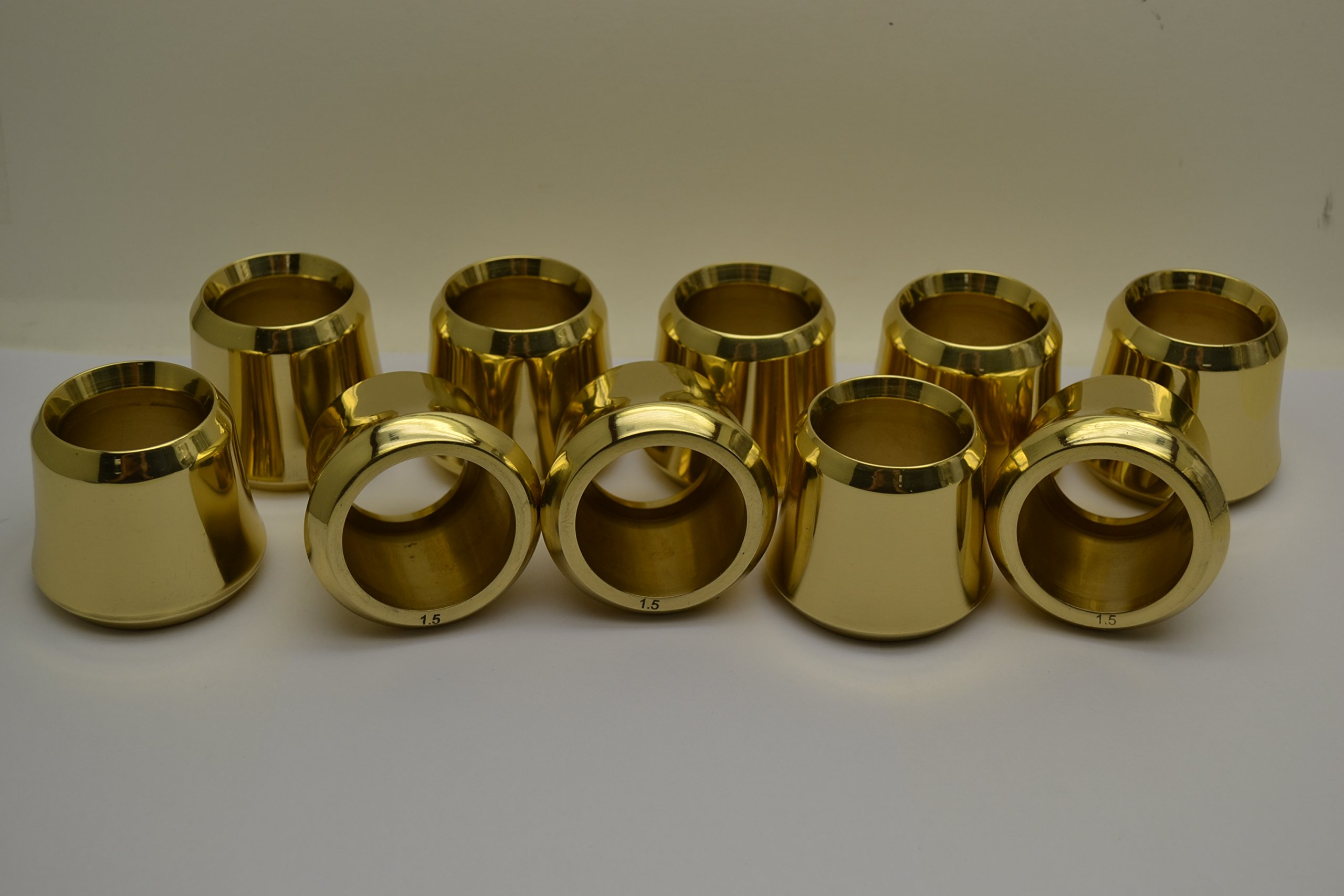 Classical Church Goods Set of 10 Solid Brass Candle Followers 1 1/2'' Size, Burners (Set of 10) by Classical Church Goods (Image #2)
