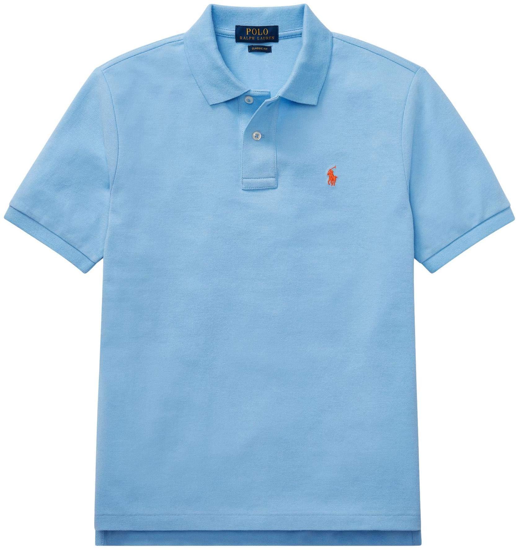 Ralph Lauren Polo Boys' Classic Cotton Mesh Polo Shirt (CollinBlue, S)