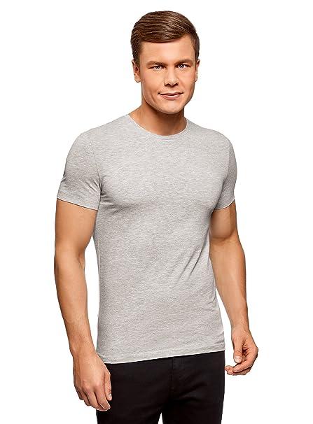 oodji Ultra Hombre Camiseta Sin Etiqueta Básica (Pack de 3): Amazon.es: Ropa y accesorios