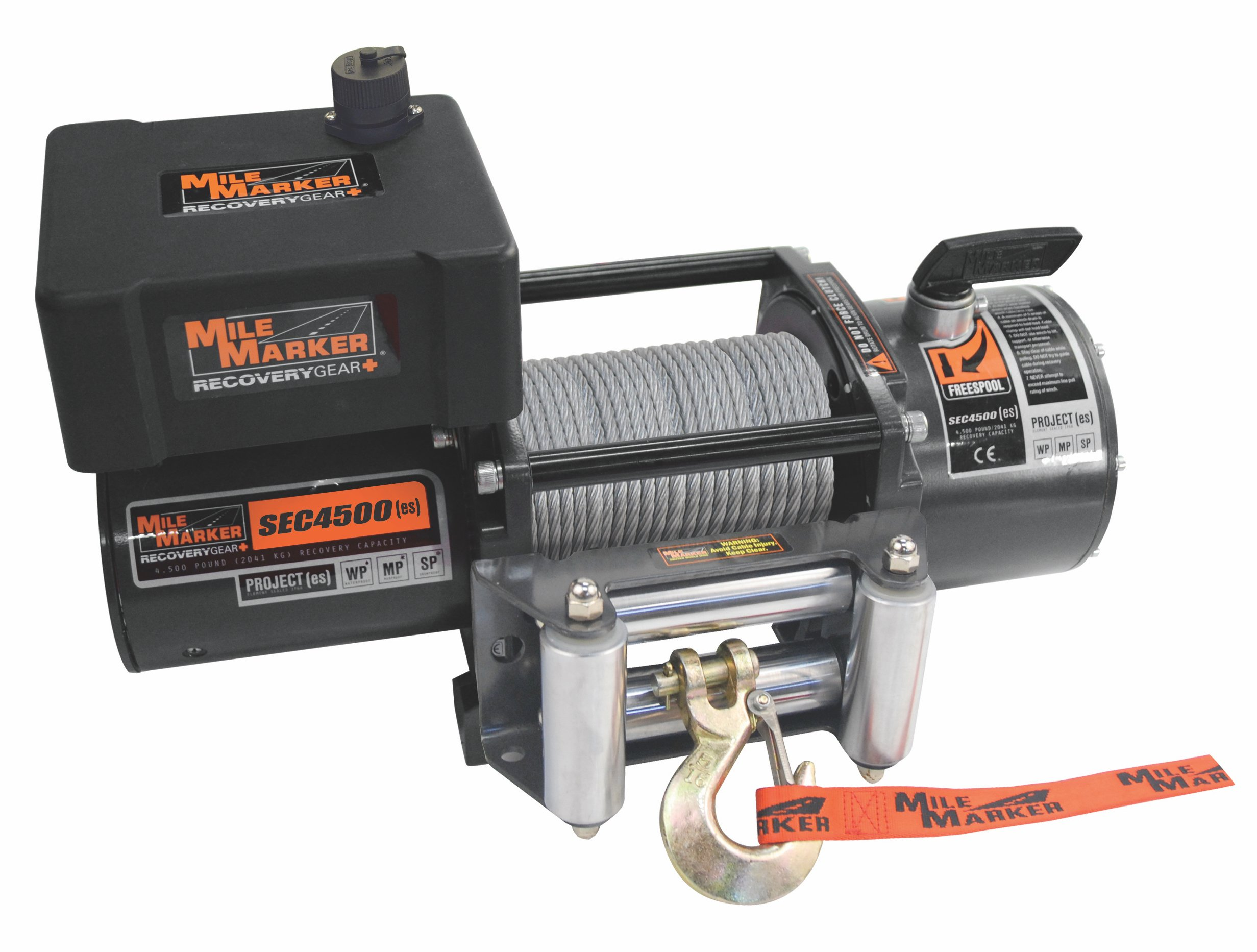 Mile Marker SEC4500(es) Trailer/UTV/Side-By-Side Premium Sealed Electric Winch - 4,500 lb. Capacity