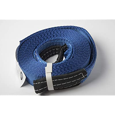 """HiGear 2"""" X 20', 6.5 Ton 2 Inch X 20 Ft. Polyester Tow Strap Rope 2 Loops 14,000lb Towing Recovery by Alfa Wheels (Blue, 2in 20ft 2x20): Automotive"""