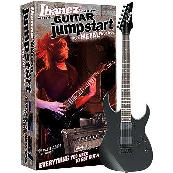 Ibanez grg121exj de IJM21RU-BKN Gio Jump Start Guitarra eléctrica Set con Amplificador y accesorios