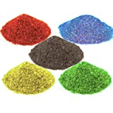 AsianHobbyCrafts Glitter Sparkle Powder: 250gms Pack of 5 Color : 50g Each Color.