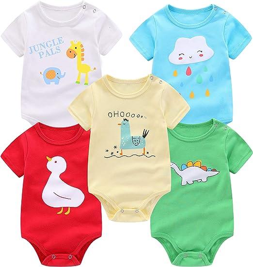 Care Unisex Baby Bodysuit Shortsleeve 3-Pack
