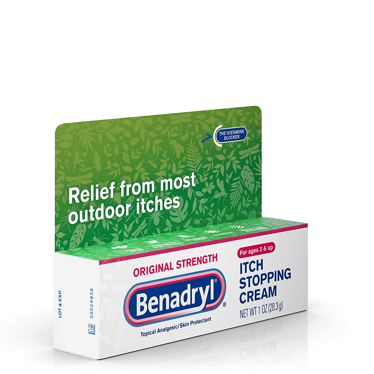 Amazon.com: Benadryl Original Strength Anti-Itch Relief Cream for Most  Outdoor Itches, Topical Analgesic, 1 oz (Pack of 2): Health & Personal Care