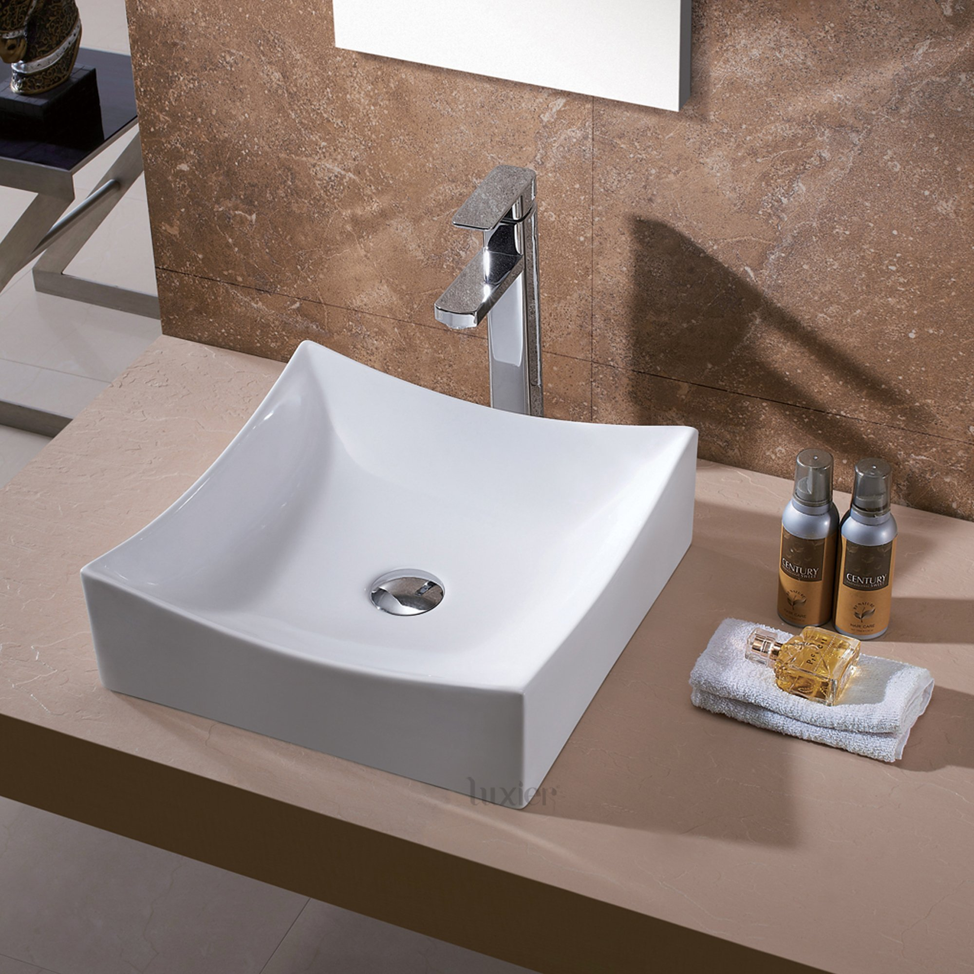 Luxier CS-016 Bathroom Porcelain Ceramic Vessel Vanity Sink Art Basin by Luxier