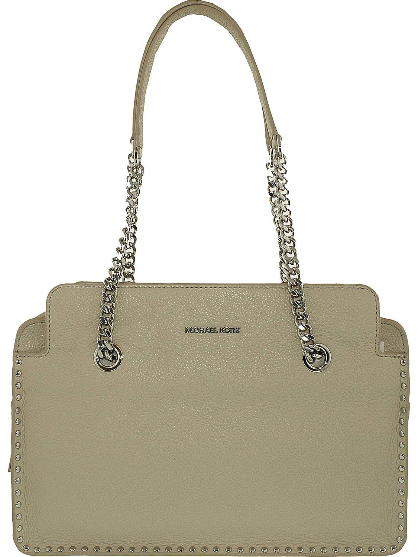 Michael Kors Astor Large Satchel Bag in Cement  Handbags  Amazon.com c5302899b61d