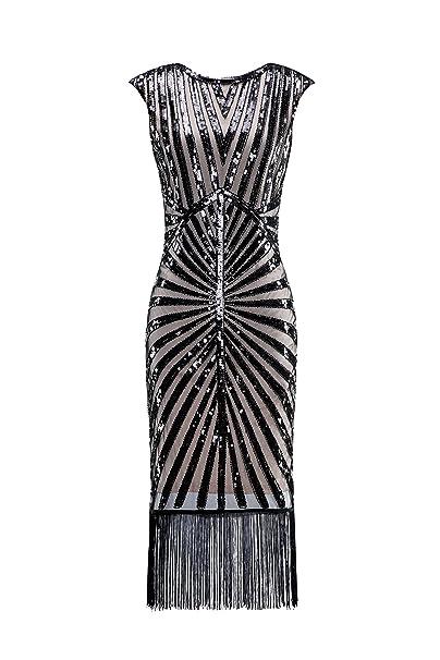 Amazon.com: Metme vestido de fiesta clásico de los años 20 ...