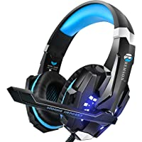 Remson Gaming Headset Noise Cancelling Over Ear Headphone with Mic, LED For PC PS4 Laptop Mac Nintendo, PS4, PC, Xbox