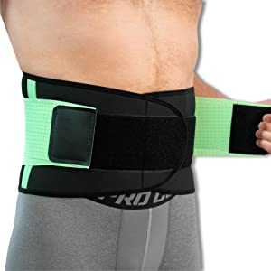 NeoPhysio Advanced Breathable Lower Back Support Belt, Great for Active People - Large