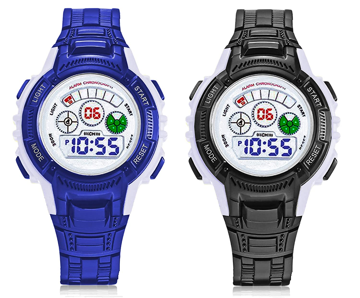 Time Up Combo of 2 Digital Colorful Watches for Kids