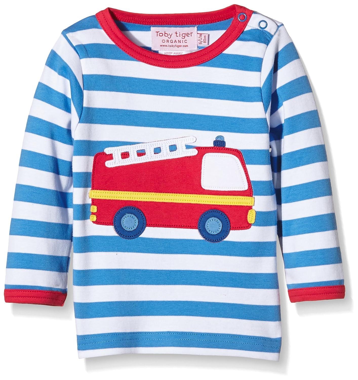 cheap Toby Tiger Organic Cotton Fire Engine T-Shirt