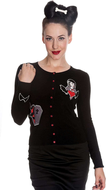 Hell Bunny Gothic Vampire Coffin Bat Heart Black Cardigan