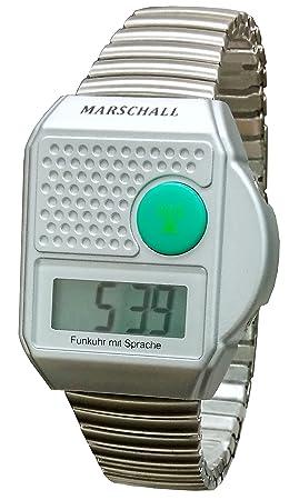 Digital de con mando a distancia de pulsera con voz salida, que habla Blindenuhr, vinilo decorativo con reloj y pulsera flex: Amazon.es: Salud y cuidado ...
