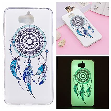 Huawei Y5 2017 / Y6 2017 Case, Noctilucent Glow in the Dark Case Matching  Design Protective Phone Back Cover TPU Shell Case for Huawei Y5 2017 / Y6