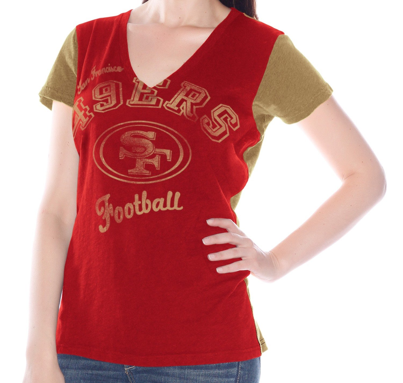Amazon.com   G-III Sports San Francisco 49ers Womens Fair Catch V-Neck T- shirt   Sports   Outdoors ee47f0131