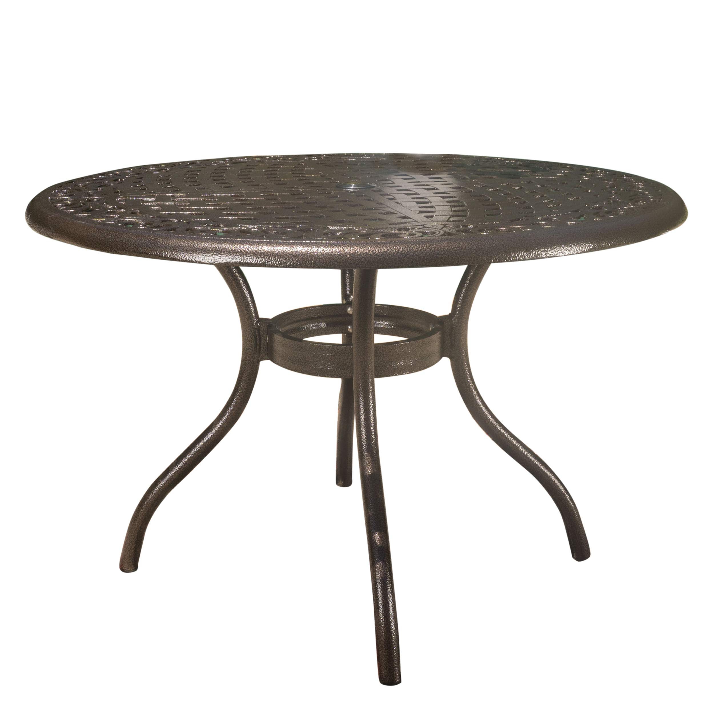 Christopher Knight Home GDF Studio Kiawah | Round Cast Aluminum Outdoor Patio Table | Perfect for Dining | in Hammered Bronze