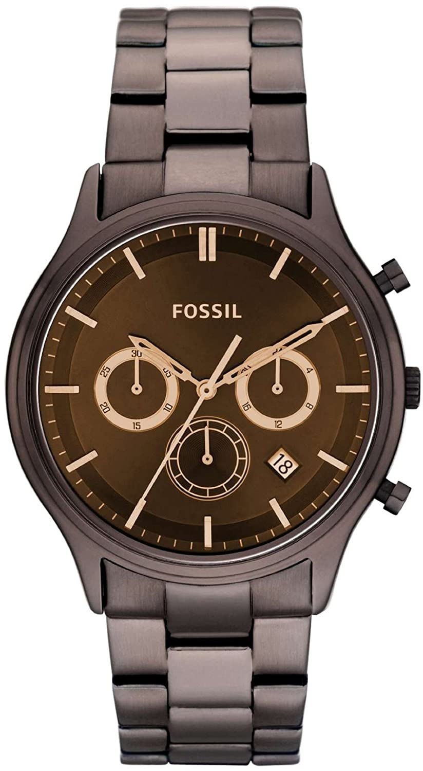 Fossil Ansel Stainless Steel Watch – Brown Watch Fossil