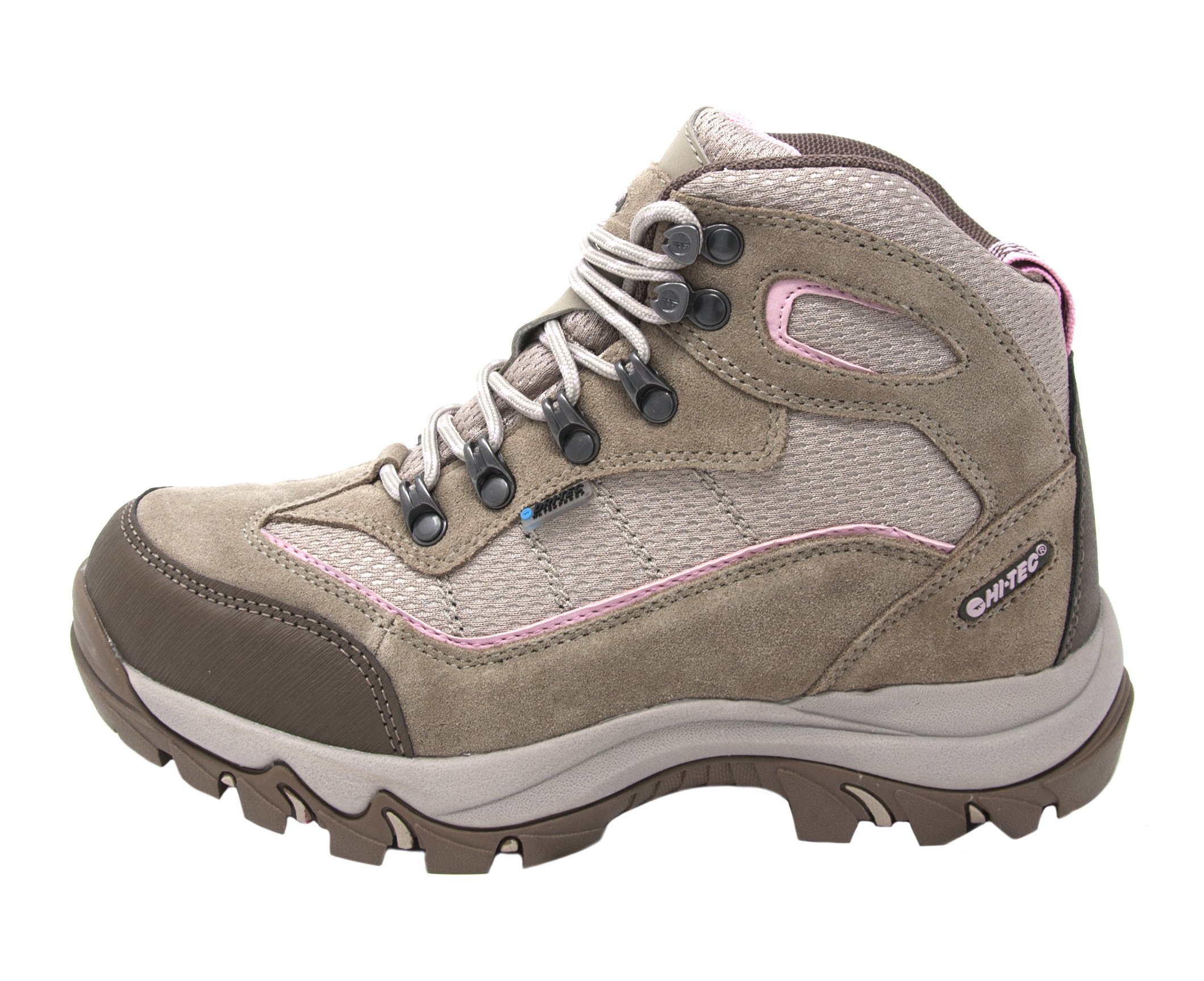 Hi-Tec Women's Skamania Mid-Rise Waterproof Hiking Boot (7.5 B(M) US, Natural/Pink)
