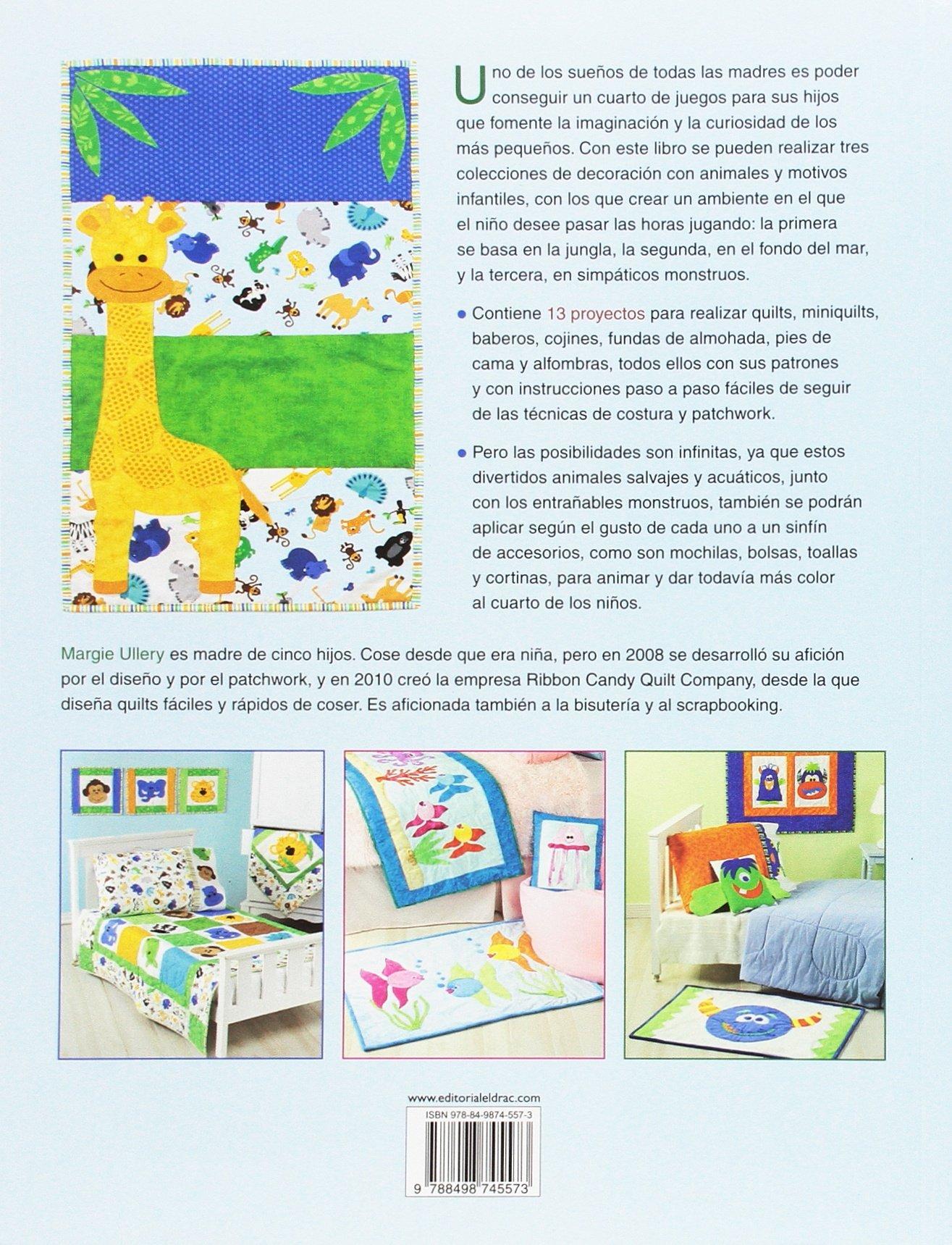 Aplicaciones de patchwork con motivos infantiles. Animales ...