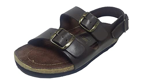 4b9768eaa4ac5 BATA Men s Brown Leather Sandal - 7 UK  Buy Online at Low Prices in ...