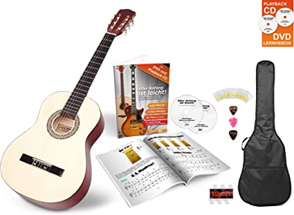Set de principiante Guitarra Clásica Calida Lucía 7/8 en color ...
